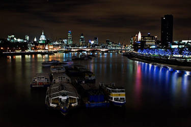 The Thames at Night by Mohain