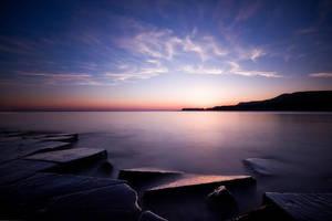 Kimmeridge Sunset by Mohain
