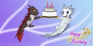 DragonBros Birthday Card by xiaomil