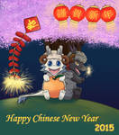 DragonBros Happy Chinese New (Goat) Year 2015 by xiaomil
