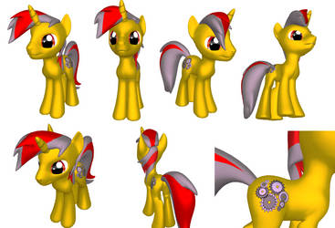 My 3D MLP OC by Guille2033