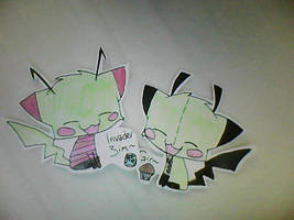 + Invader Zim And Gir Cats + by xwhenxitxrainsx