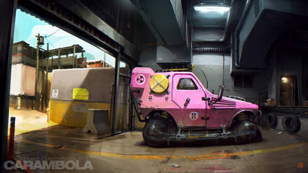 Mudtown Hovercars by barontieri