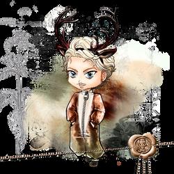 Rego Chibi - Deer Version by Chibivi-Linearts