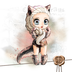 Ysindra Chibi - Wolf Version by Chibivi-Linearts