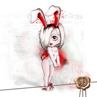 Rhella Chibi - Bunny Version by Chibivi-Linearts