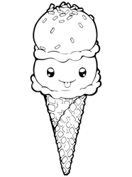 Dessertie | Ice Cream Lineart by Chibivi-Linearts