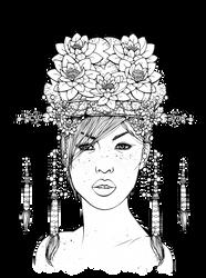 Mio Portrait - Lines by Chibivi-Linearts