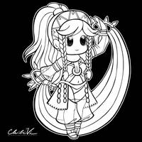 Fire Emblem Chibi | Olivia by Chibivi-Linearts