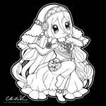 Fire Emblem Chibi   Azura by Chibivi-Linearts