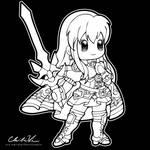Fire Emblem Chibi   Eirika by Chibivi-Linearts