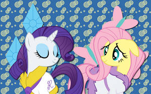Rarity and Fluttershy WP by AliceHumanSacrifice0