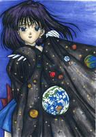 Sailor Saturn - The Universe by chorny-kotenok