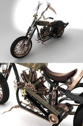 Gothic-funer bike by Phoboss88