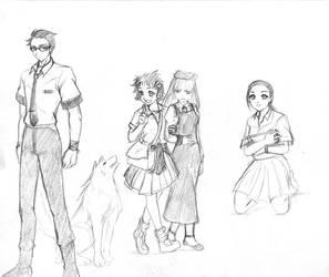 Boceto-personajes by SAHNARA