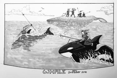 Inktober 2018 Whale by Lathminster
