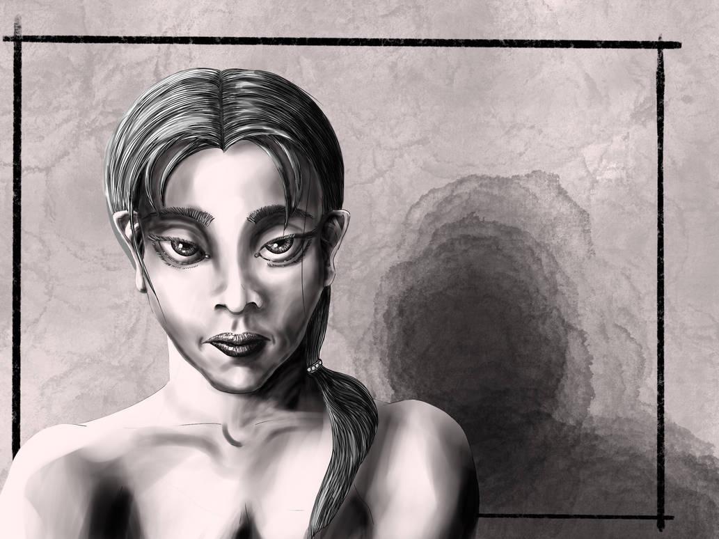 Somber girl by Lathminster