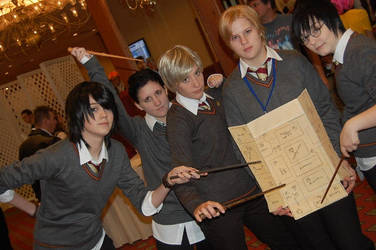 Marauders and Tom Riddle by Kohaku-in-chaos