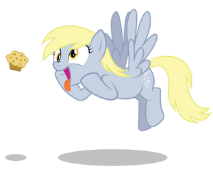 Derpy wants the muffin! by Bronyvectors