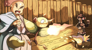 The Battle at Bellsprout Tower by Phatmon
