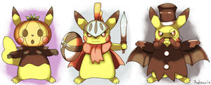 Cosplay Pikachus Updated by Phatmon
