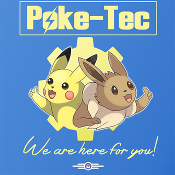 Poke-Tec Pikachu and Eevee by Phatmon