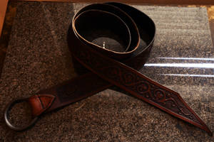 Medieval leather belt by Zidra
