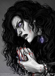 Yennefer and the hand of Geralt by NastyaSkaya