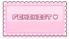 F2U Feminist Stamp [pink] by SnivelGriffoon