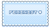 F2U Feminist Stamp [blue] by SnivelGriffoon