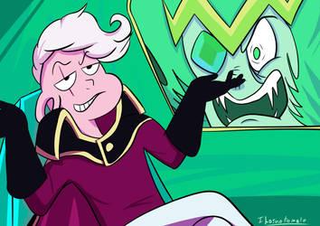 Steven Universe Fan art: Lars and Emerald by ihasnotomato