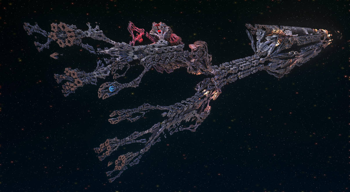 Semi Organic Anachroid Starship by keenansun