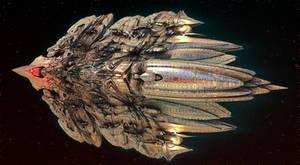 Alien Deep Space Reconnaissance Vessel by keenansun