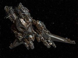 Short Range Reconnaissance Starship by keenansun