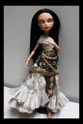 OOAK Monster High Cleo de Nile Egyptian Queen full by mourningwake-press