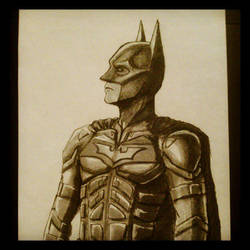Dark Knight Sketch by LouBrication