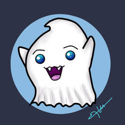 Boo! Ghost design!  (Ximena Roldan) - digital art by XimenaRoldan