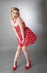 Polka Dot Dress Girl Picture by MoCity