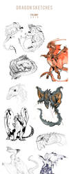 Dragon Sketches 2018 by Fulemy