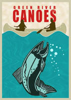 Green River Canoes Jaws Poster by houselightgallery