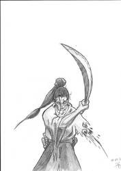 Armless samurai (unfinished) by dred69