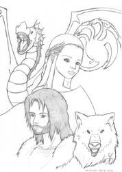 A song of ice and fire (line art) by dred69