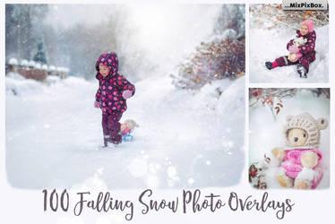 100 Snow Photo Overlays by MixPixBox