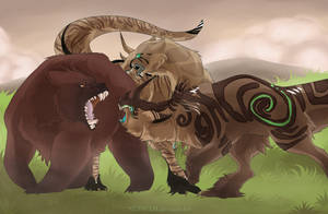 I'll kill you with my bear hands! by Nuhkah