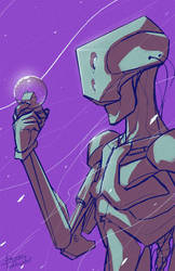 Robot Sketch by SamTodhunter