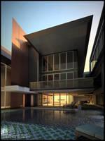 Pool area by Neellss
