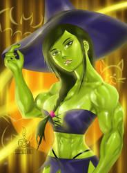 She Hulk's Halloween by MANDO-AZ