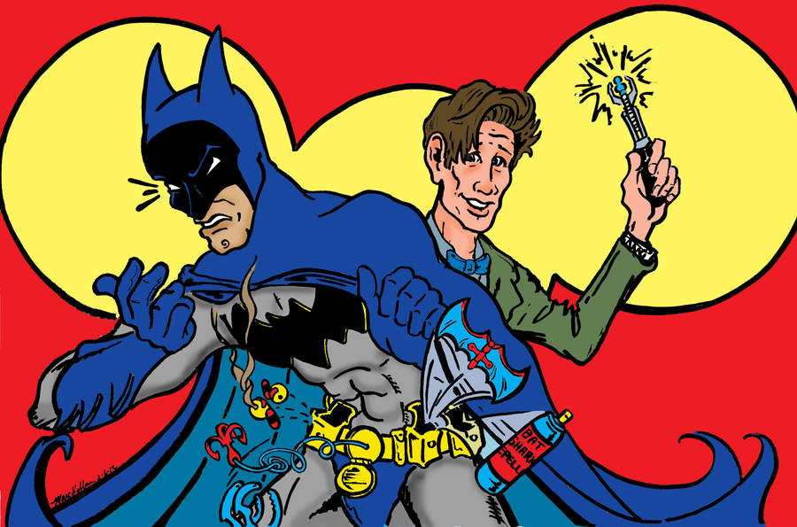 Batman Vs. Doctor Who by briankinneysgawd