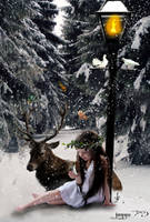 little girls winter dream by jaggu79