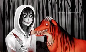 Good boy - Jeff the killer n Smile dog by Nasuki100